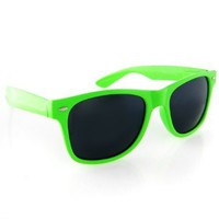Amazon.com: Neon Green Wayfarer Sunglasses: Shoes