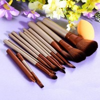 MDIGUS4 12Pcs Pro Makeup Brush Set Powder Sponge Puff Cosmetic Brush Eyeshadow Lip Foundation Brush Pincel Maquiagem Make Up Brushes