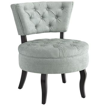 Bea Tufted Chair - Smoke Blue