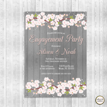 Rustic Engagement Party Invitation, Blush Pink Engagement Party Invitation, Elegant Engagement Party Invitation, Engagement Party Invitation