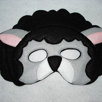 Children's BLACK SHEEP Farm Animal Felt Mask