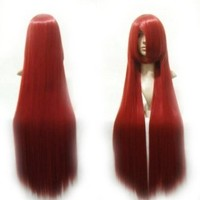 HealthTop Fairy Tail Erza Scarlet Straight Cosplay/ Costume Play Wig Red