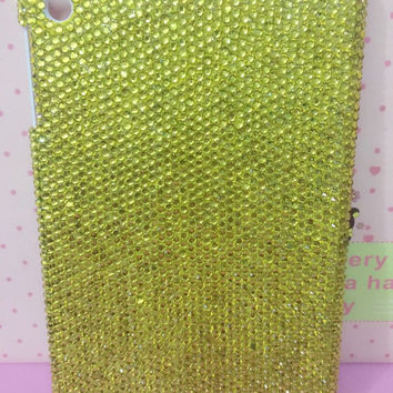 Handmade Bling sparkle diamond crystal pearl Rhinestone iPad 2 3 4 case cover ipad air ipad mini case cover super bling yellow