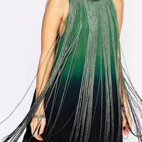 ASOS Swing Dress with Ombre Fringe Detail
