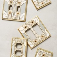 Retro Swirl Switch Plate by Anthropologie