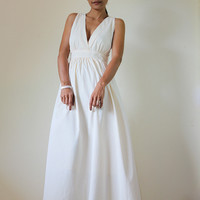 Cream Maxi Dress Classy Elegant Dee.. on Luulla