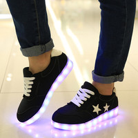 8 Color USB Charging Light Up LED Luminous Sneakers