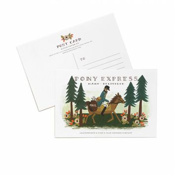 Pony Express Postcard by RIFLE PAPER Co. | Made in USA