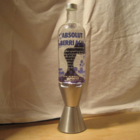 Absolut Vodka Beri Acai Lava Light Lamp 750 ML