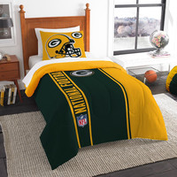Green Bay Packers NFL Twin Comforter Set (Soft & Cozy) (64 x 86)