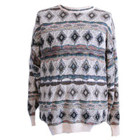 Long Sweater Oversize Baggy Vintage Sweater, Size Large