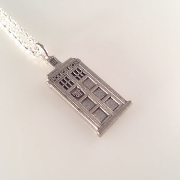 Exclusive Doctor TARDIS Charmed Interpreted Necklace in Your Favorite Color