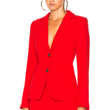Smythe Portrait Blazer in True Red | FWRD
