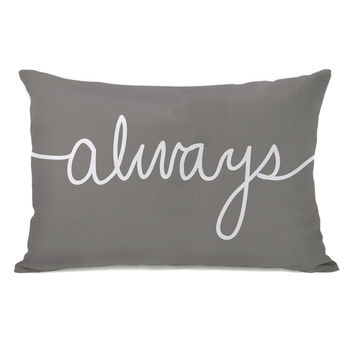 Always Mix & Match - Gray Throw Pillow by OneBellaCasa.com