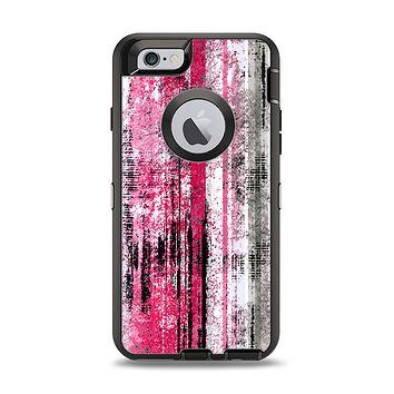 The Vintage Worn Pink Paint Apple iPhone 6 Otterbox Defender Case Skin Set