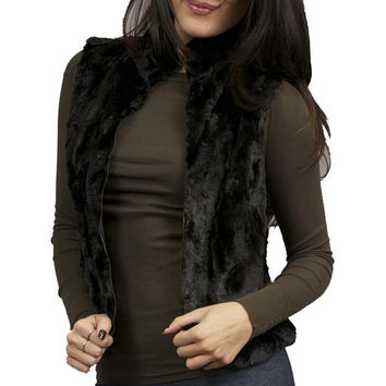Eight Sixty Fur Vest in Black