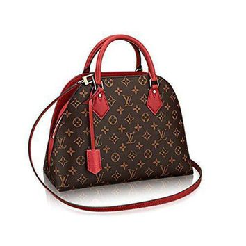 ESBYD9 Louis Vuitton Neverfull MM Monogram Canvas ALMA B'N'B Bag Handbag Red Article: M41779