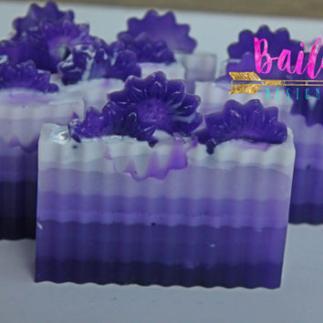 purple soap, unique soap, monochromatic soap, novelty soap, custom soap color, wedding color favor, wedding soap favor, purple soap favor