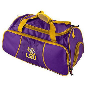 """Licensed LSU Tigers Official NCAA 21""""x11""""x12"""" Athletic Gym Duffle Bag by Logo 162728 KO_19_1"""