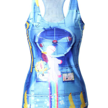 Sexy Comfortable Hot Beach Stylish Bralette Summer Casual Minions Print Women's Fashion Vest [6049495873]