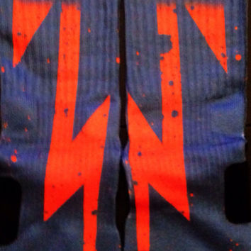 Cleveland Cavaliers Inspired Custom Nike Elite Socks