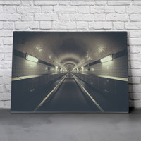 Canvas Wall Art Print - Tunnel 2 by Lars Focke