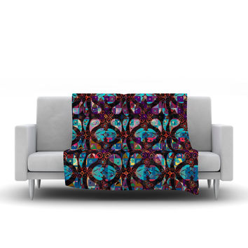 "Suzanne Carter ""Pattern"" Multicolor Abstract Fleece Throw Blanket"