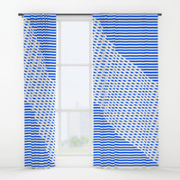 Ovrlap Blue Window Curtains by Fimbis