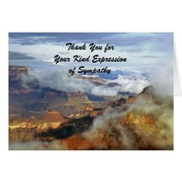 Thank You For Sympathy, Grand Canyon Clouds