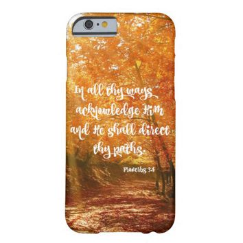 Proverbs Bible Verse: He will Direct your Paths Barely There iPhone 6 Case