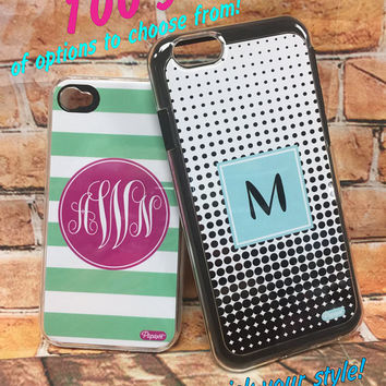 Personalized IPhone Cases - Cell Phone Hard Case Monogram, Initial or Name - Available for Iphone 5, 5s, 6/6s, 6 plus, 7 and 7 plus
