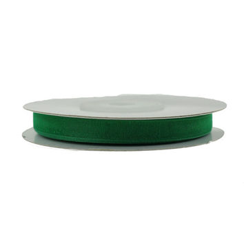 Sheer Organza Ribbon, 1/4-inch, 25-yard, Emerald Green