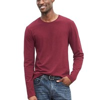 Banana Republic Mens Soft Wash Long Sleeve Crew
