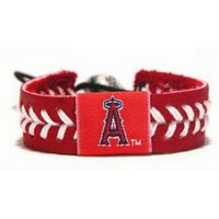 Gamewear MLB Leather Wrist Band - Angels Team Colors