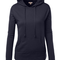 LE3NO Womens Active Fleece Long Sleeve Pullover Hoodie (CLEARANCE)