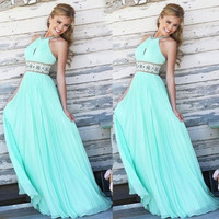 Women Long Sexy Evening Party Ball Prom Gown Formal Bridesmaid Cocktail Dress = 5618778689