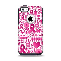 The Pink Collage Breast Cancer Awareness Apple iPhone 5c Otterbox Commuter Case Skin Set
