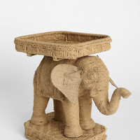 Magical Thinking Jute Elephant Side Table