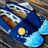 Water Polo TOMS shoes by BStreetShoes on Etsy