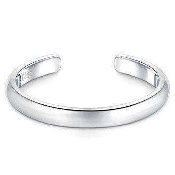 925 Sterling Silver Toe Ring Hypoallergenic Adjustable Band Ring