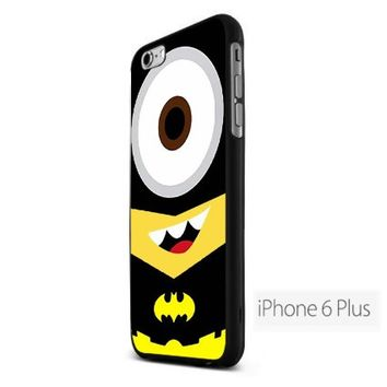 Despicable Me Minion Batman FDL Custom Case for Iphone 6 Plus Black