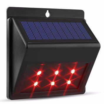 2017 6 LEDs Solar Light Auto Motion Sensor Outdoor Waterproof Garden Lamps Pathway Light Energy Saving Sense Light Garden Decor