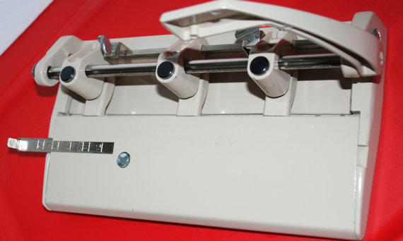 Vintage Foothill 310 Three Hole Heavy Duty Paper Punch