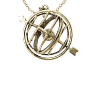 LOVEsick Spinning Globe Compass Long Necklace