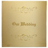 Gold Intertwined Hearts Wedding Table Napkin