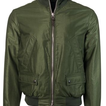 Tom Ford Men Green Satin Twill Light Fill Blouson Sport Jacket