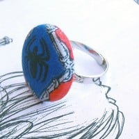 Spiderman Adjustable Ring | smiss00 - Jewelry on ArtFire