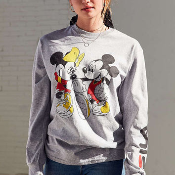 FILA + UO Mickey + Minnie Long Sleeve Disney Tee | Urban Outfitters