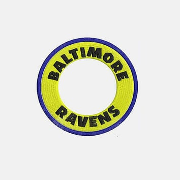 Baltimore Ravens Monogram Logo Embroidery Design - Instant Download Filled Stitches Design 345H