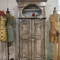 EcoVolveNow Handmade One of A Kind Farmhouse Shutter Cabinet